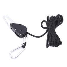 Adjustable Rope Ratchet Heavy Duty Grow Light Hanger Reinforced Metal Gears LD
