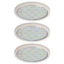 3x LED Muebles Luces Montadas Micro Line BLANCO Rendondo 3x 1,22w 230v luz fría