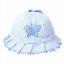BABY GIRLS BOYS SUN HAT WITH EMBROIDERED BUTTERFLY MOTIF SUIT 3 - 6 MTHS APX