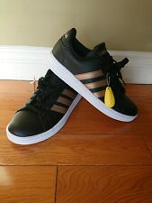 Addidas Grand Court Leather Women's Black  Sneaker Size 9.5