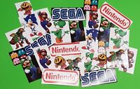Gaming Stickers - Retro Video Game Sticker Set  (25)