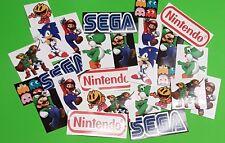 ADESIVI per videogame-RETRO VIDEO GAME Adesivo Set (25)