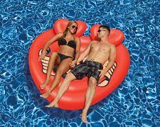 Heart Tattoo Island Giant Pool Float Raft Swimline 90556 Beach Inflatable Red