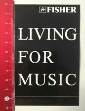 ADESIVI/Sticker: Fisher-Living for music (110416121)