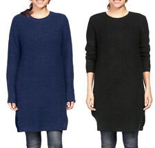 Women's UK Plus Size 8 - 26 Navy Blue, Red, Black Wool Mix LONG Jumpers Sweaters