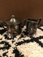 Vintage Set of 2 Int'l Silver Co. creamer and sugar 78 & 80