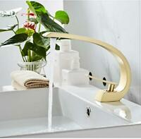 Brushed Gold Bathroom Sink Faucet,Single Handle Single Hole Vessel Lavatory Tap