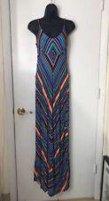 American Rag Dress Striped Boho Hippie Stretch Knit Rayon Strapless Sundress S