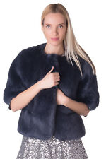 VENUS IN FUR Faux Fur Coat Size IT 42 / S Elbow Sleeve Hook Front Made in Italy