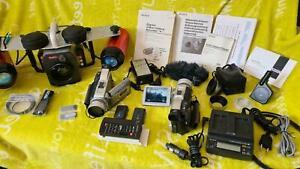 Tauchgehäuse Sealux Sony Digital, Lichtanlage inkl. 2x Camcorder DCR-TRV80