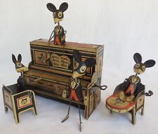 1930's MARX Merrymakers Wind Up Tin Toy Mouse Piano Band NO RESERVE