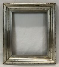 Antique Late 19th C Silver Lemon Gold Gilt Frame 8 x 10 Opening (#1)