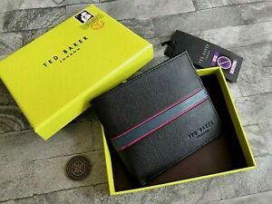 TED BAKER BLACK LEATHER WALLET WITH RFID IDENTITY PROTECTION BNIB