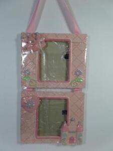 Baby's Pink PRINCESS Crown Castle Double Photo Frame w/ Grosgrain Ribbon Hanger