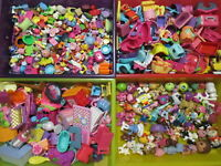 Lot 70 Pcs Random Figures Accessories Pets Dolls Bratz Polly Pockets Barbie RB