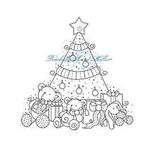 Tampon transparent STAMPAVIE - Rachelle Anne Miller - GIFTS TREE - fetes noel