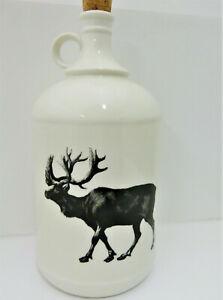 Ceramic Jug With Black & White Elk