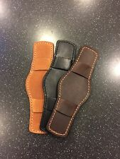 Horween Leather Bund Pad For Your Watch Strap 2 Styles Look At Photos!