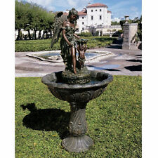 Antique Bronze Finish Italian Replica Angel Water Fountain Garden Sculpture NEW