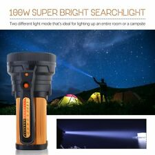 LED Handheld Flashlight Torch Searchlight Rechargeable Waterproof Spotlight Lamp