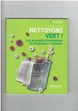 NETTOYONS VERT PRODUITS D'ENTRETIEN ECOLOGIQUES MAISON - ANAGRAMME - COMME NEUF