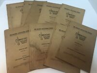 10 The Railway Educational Bureau Instruction Booklets Lot: Yrs Between 1928-41
