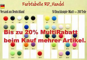 10 25 50 Druckknöpfe Original Kam Snaps MATT T5 = 12,5mm plastik Nähfrei, Prym *