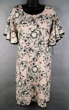 NWT Luxology Women's Cocktail Dress - Size 8 - Pink and Black Toile Floral Lined