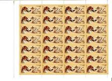RUSSIA 1988 SC#5667 DOGS RUSSIAN BORZOY,FOX HUNT FULL SHEET MNH