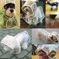 Dog Clothes Transparent Pet Rain Coat for Dogs Pet Jacket Cute Casual Waterproof
