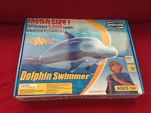 Super Fliers Dolphin Swimmer RC/Infrared Controlled Giant Inflatable Mylar 5 Ft