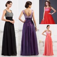 CHEAP !! Long Chiffon Ball Gown Wedding Bridesmaid Party Evening Prom Maxi Dress