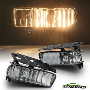 For 2002-2006 Cadillac Escalade Clear Lens Bumper Fog Light Replacement Pair