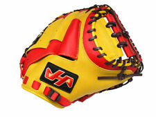 HATAKEYAMA Pro 33.5 inch Baseball Catcher Mitt - Yellow/Red