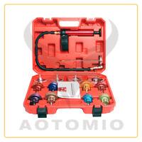 14 pcs Radiator Cooling System Pressure Tester Tank Refill Leak Tester Tool Kit