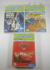 Leap Frog Leapster Lot Learning Cartridge Games Star Wars, Cars, Amusement Park