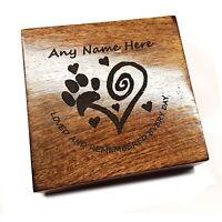Pet Urn Square Mango Ashes Pet Box Dog Urn Cat Urn Personalised Various Sizes