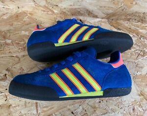 Vintage adidas Shot 2003 Trainers Custom Re-dye in Dublin Blue Size 5