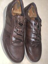 ECCO CS20 MENS BROWN LEATHER SNEAKER/SHOES SIZE 10M/44 EUC