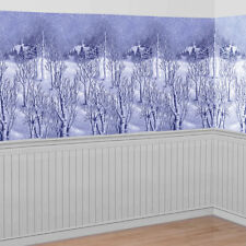 Winter Wonderland Christmas Room Roll 40ft Wall Scene Setter Backdrop Decoration