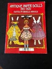 Vintage Antique Paper Dolls Book 1915-1920 Edited by Arnold Arnold; New; UNCUT