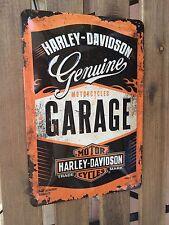 Harley Davidson Metal Sign - Motorcycles Garage - Retro style - size 40 x 30 cm