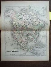 Universal Cyclopaedia and Atlas Map of North America -  Original (1902)