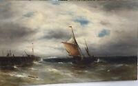 Extra Large Seascape Oil Painting By Gustave De Breanski