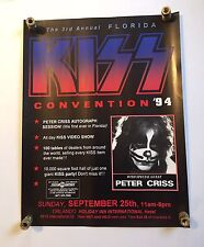 Kiss 1994 Peter Criss Florida Kiss Convention Poster