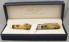 Conklin Crescent Peanut Butter Marble & Chrome Fountain Pen - Fine Nib - NEW!