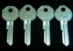 2 GM KEY BLANK SETS 1936-66 fit Chevrolet Pontiac Cadillac Oldsmobile Buick GMC