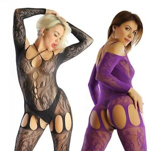 UK 6-26 Quality Lace Bodysuit Body Stocking Lingerie Underwear Erotic Plus Size