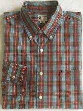 J CREW Tartan Plaid Button Down Shirt XL Long Sleeve Blue Green Red