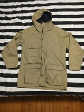 Vintage The Woolrich Woman Tan Size Medium Womans Parka Rain Coat Made In Usa